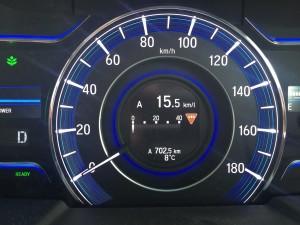 オデッセイハイブリッドの平均燃費は15.5キロでした